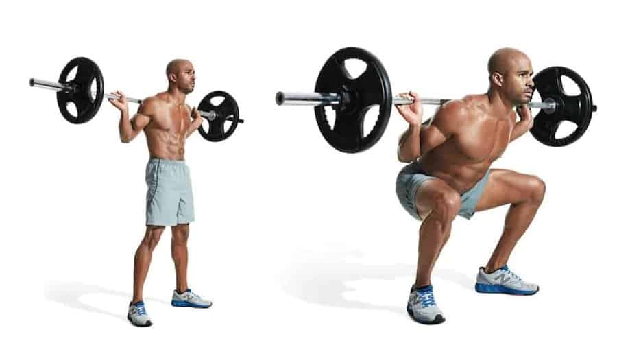 Esercizi gambe con pesi liberi