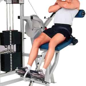 Lower back extension machine per i lombari