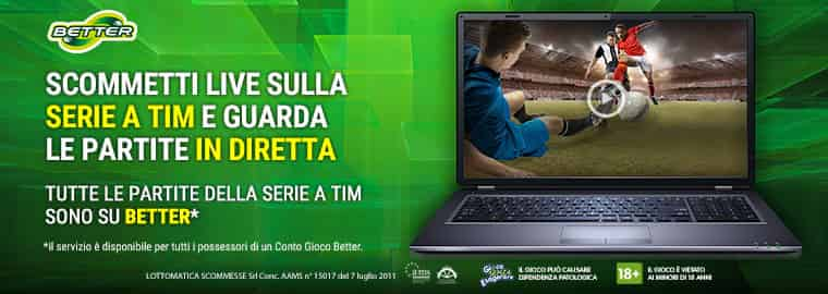 Streaming calcio e scommesse live