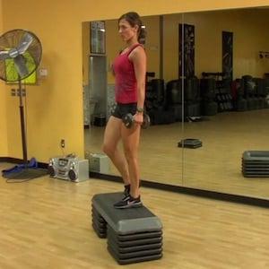 Come fare lo step up, esercizio per i glutei